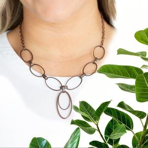 All Oval Town Copper Necklace Set